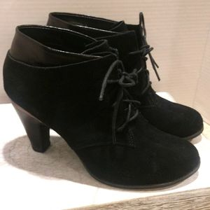 Black Suede Booties Size 8.5